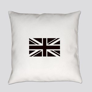 black union jack british flag Everyday Pillow