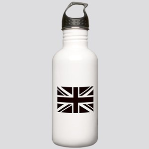 black union jack briti Stainless Water Bottle 1.0L