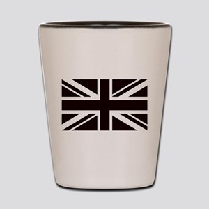 black union jack british flag Shot Glass