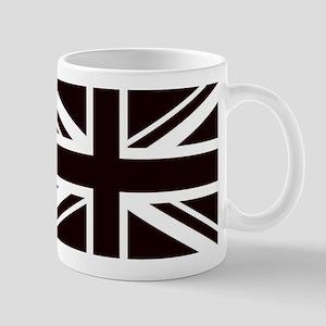 black union jack british flag Mugs