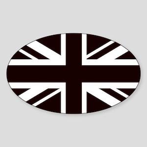 black union jack british flag Sticker