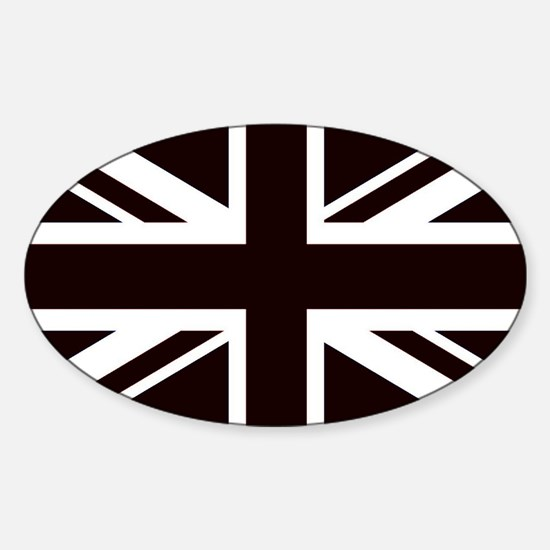 black union jack british flag Decal
