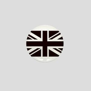 black union jack british flag Mini Button