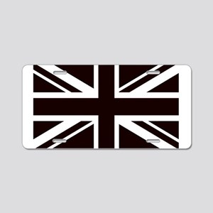 black union jack british fl Aluminum License Plate