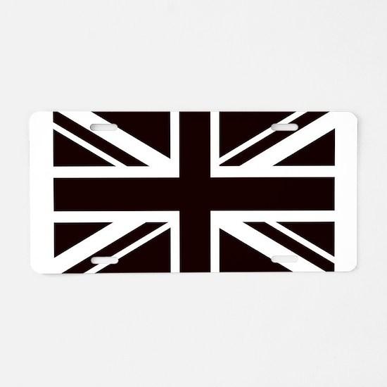 black union jack british fl Aluminum License Plate
