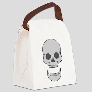 Skull Agape Canvas Lunch Bag