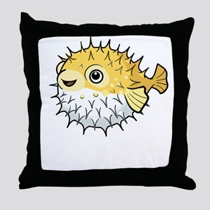 Puffer fish Throw Pillow