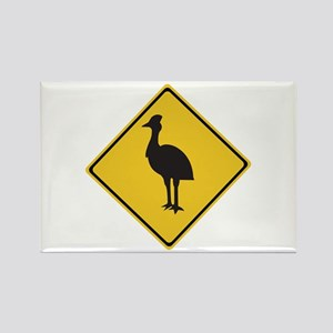 Attention Cassowaries, Australia Rectangle Magnet