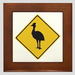 Attention Cassowaries, Australia Framed Tile