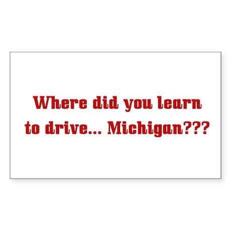 Drive Michigan Rectangle Sticker