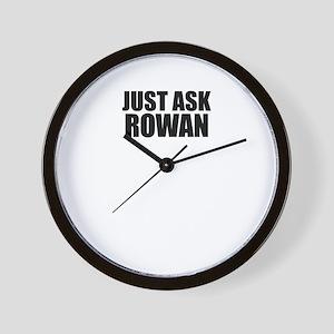 Just ask ROWAN Wall Clock