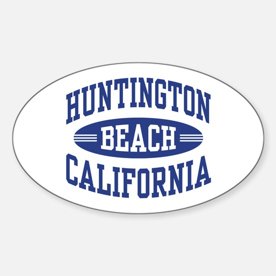 Huntington Beach CA Sticker (Oval)