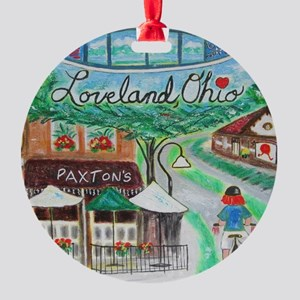Loveland, Ohio - Lightened Round Ornament