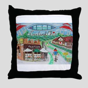 Loveland, Ohio - Lightened Throw Pillow