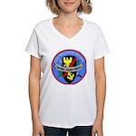 USS Waldron (DD 699) Women's V-Neck T-Shirt