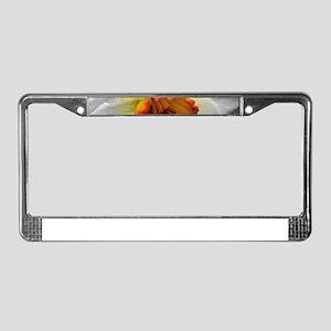 Daffodil Umbrella License Plate Frame