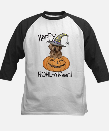 Halloween Lab Kids Baseball Jersey