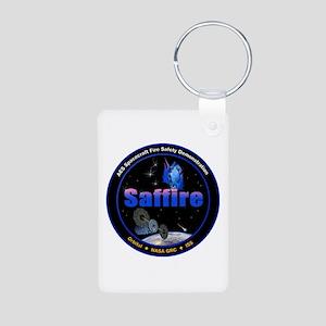 Saffire 1 Logo Aluminum Photo Keychain Keychains