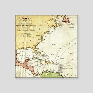 Vintage Christopher Columbus Voyage Map (1 Sticker