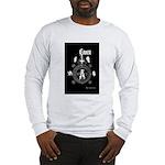 Grey & Wht 2 Sides Printed Long Sleeve T-Shirt
