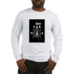 Grey & Wht 2 Sides Printed Long Sleeve T-Shirt
