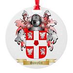Samylin Round Ornament