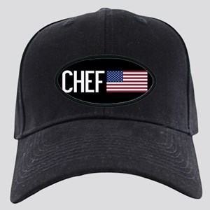 Careers: Chef (U.S. Flag) Black Cap