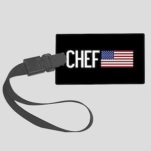 Careers: Chef (U.S. Flag) Large Luggage Tag