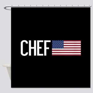 Careers: Chef (U.S. Flag) Shower Curtain