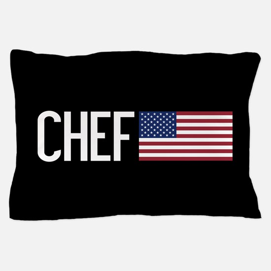 Careers: Chef (U.S. Flag) Pillow Case