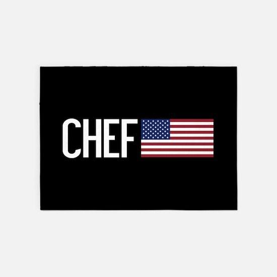 Careers: Chef (U.S. Flag) 5'x7'Area Rug