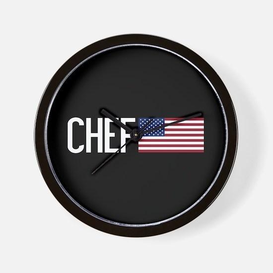 Careers: Chef (U.S. Flag) Wall Clock