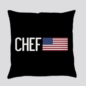 Careers: Chef (U.S. Flag) Everyday Pillow