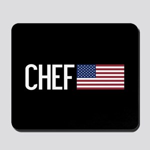 Careers: Chef (U.S. Flag) Mousepad