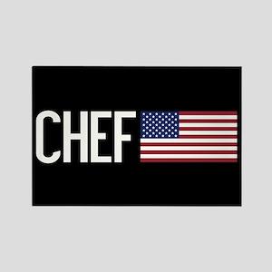 Careers: Chef (U.S. Flag) Rectangle Magnet