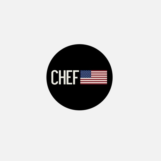 Careers: Chef (U.S. Flag) Mini Button