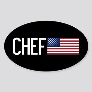 Careers: Chef (U.S. Flag) Sticker (Oval)