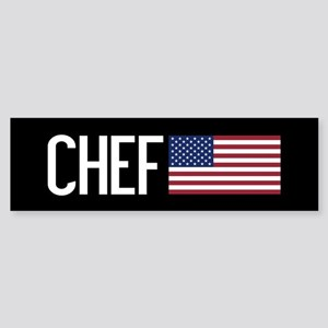 Careers: Chef (U.S. Flag) Sticker (Bumper)
