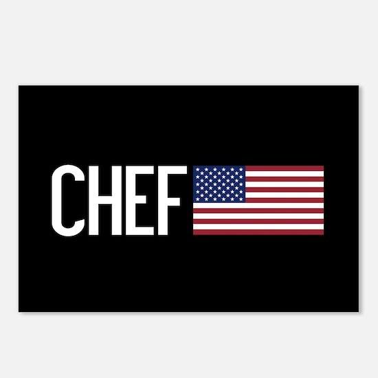 Careers: Chef (U.S. Flag) Postcards (Package of 8)