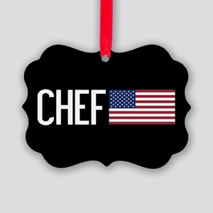 Careers: Chef (U.S. Flag) Picture Ornament