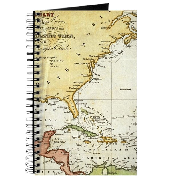 Vintage christopher columbus voyage map 1 journal by admincp17960464 gumiabroncs Choice Image