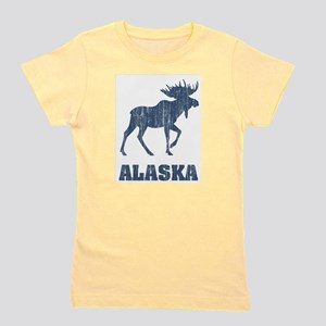 Retro Alaska Moose Ash Grey T-Shirt