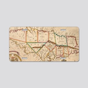 Vintage Map of Jamaica (167 Aluminum License Plate