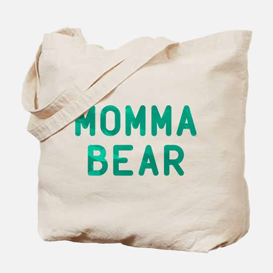 Momma Bear Green Tote Bag