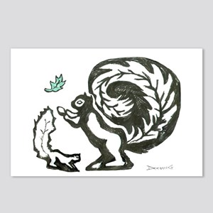 Black, White & Green Postcards (Package of 8)