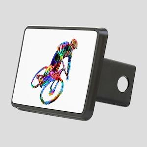 Technicolor Mountain Biker Rectangular Hitch Cover