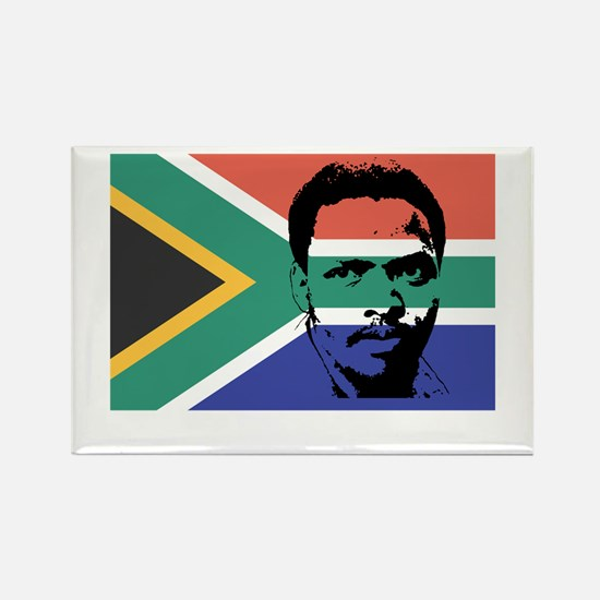 Biko on South African Flag Rectangle Magnet