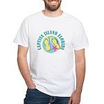 Captiva Flip Flops - White T-Shirt