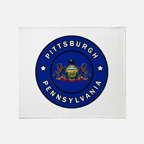 Pittsburgh Pennsylvania Throw Blanket