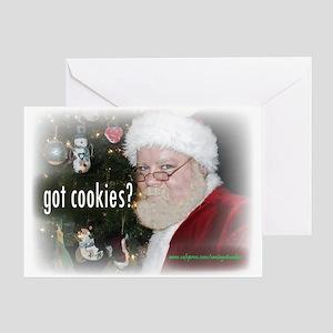Santa - Got Cookies? Greeting Card